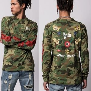 YOUNG&RECKLESS HAWKER CAMO SHIRT